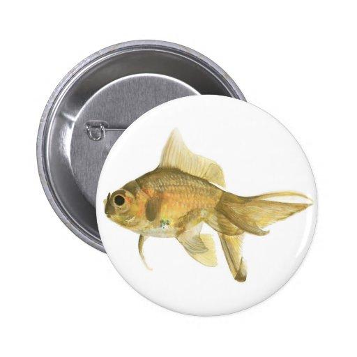 goldfish, pescado pin redondo 5 cm