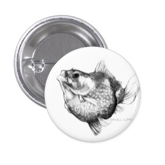 Goldfish ping pong pearl pinback button