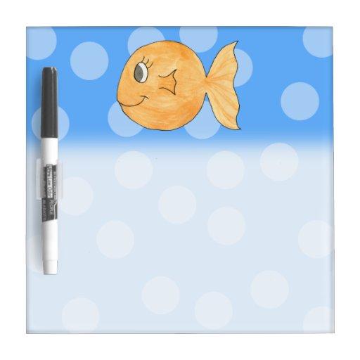 Goldfish. Pizarra Blanca