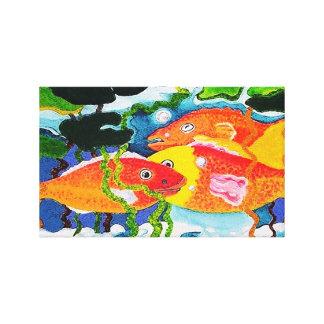 Goldfish pond canvas print