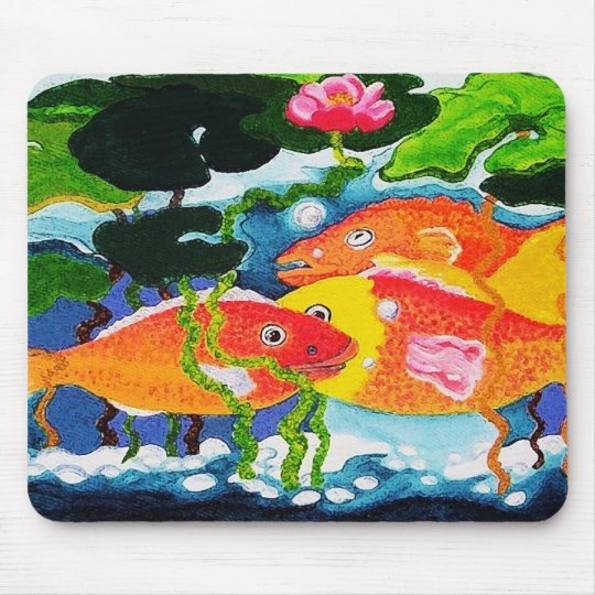 goldfish pond mouse pad