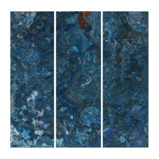goldfish pond triptych