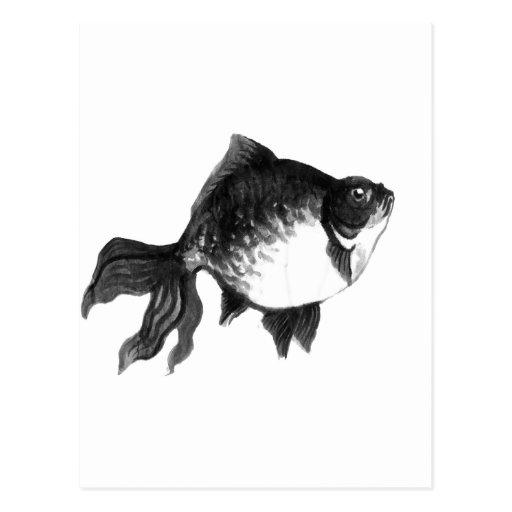 goldfish post card