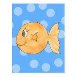 Goldfish. Postcard