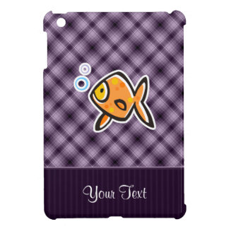 Goldfish púrpura iPad mini protector