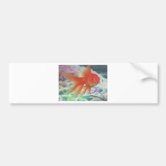Goldfish que habla pegatina de parachoque