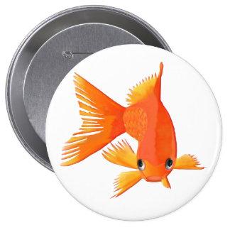 Goldfish que viene en usted pin redondo 10 cm