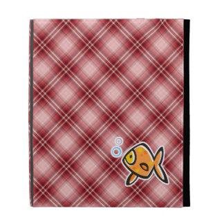 Goldfish rojo de la tela escocesa