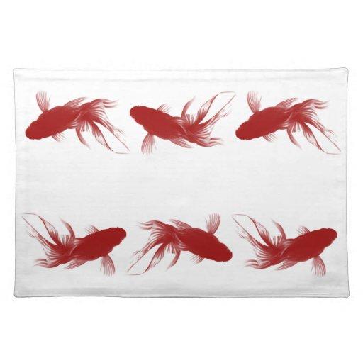 Goldfish rojo de Ryukin Manteles Individuales