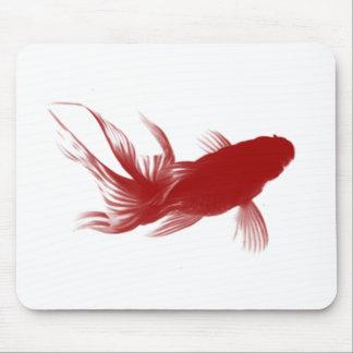 Goldfish rojo de Ryukin Mousepads