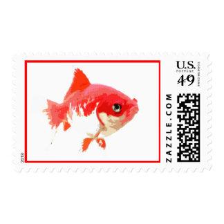 Goldfish rojo estampilla