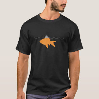 Goldfish Shark Black T-shirt