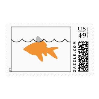 Goldfish Shark Horizontal Stamp