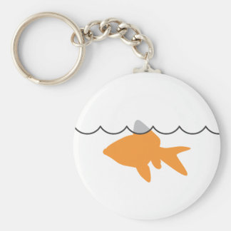 Goldfish Shark Keychain