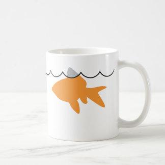 Goldfish Shark Mugwrap Coffee Mug