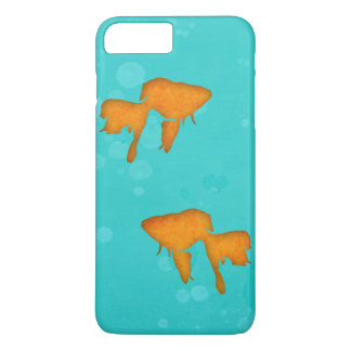 Goldfish silhouettes turquoise water byEDrawings38 iPhone 8 Plus/7 Plus Case