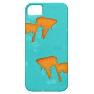 Goldfish silhouettes turquoise water iPhone 5 case