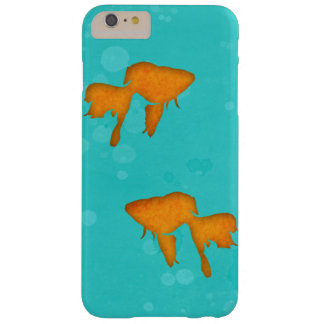 Goldfish silhouettes turquoise water iPhone 6 plus Barely There iPhone 6 Plus Case