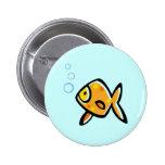 Goldfish simple pin redondo de 2 pulgadas