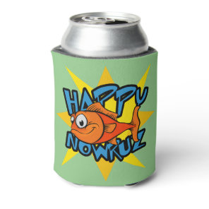 Goldfish Smiling Sun Persian New Year Nowruz Can Cooler