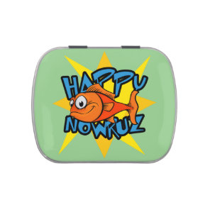 Goldfish Smiling Sun Persian New Year Nowruz Candy Tin