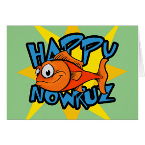 Goldfish Smiling Sun Persian New Year Nowruz Card