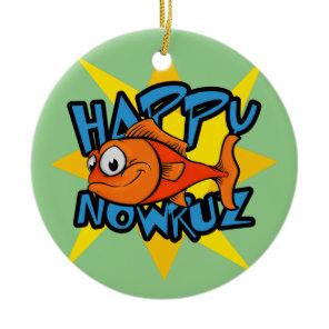 Goldfish Smiling Sun Persian New Year Nowruz Ceramic Ornament