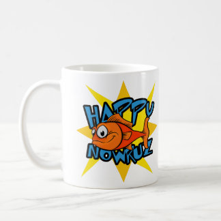 Goldfish Smiling Sun Persian New Year Nowruz Coffee Mug