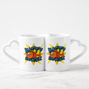 Goldfish Smiling Sun Persian New Year Nowruz Coffee Mug Set