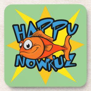 Goldfish Smiling Sun Persian New Year Nowruz Drink Coaster