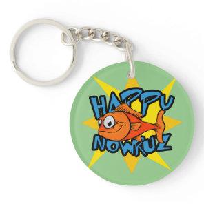 Goldfish Smiling Sun Persian New Year Nowruz Keychain