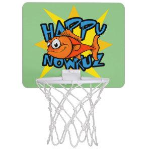Goldfish Smiling Sun Persian New Year Nowruz Mini Basketball Hoop