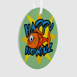 Goldfish Smiling Sun Persian New Year Nowruz Ornament