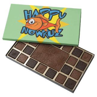 Goldfish Smiling Sun Persian New Year Nowruz 45 Piece Box Of Chocolates