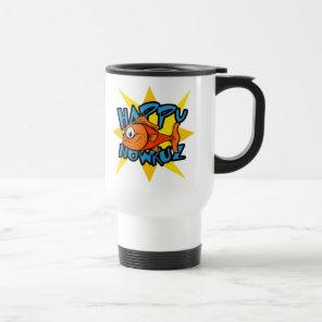 Goldfish Smiling Sun Persian New Year Nowruz Travel Mug