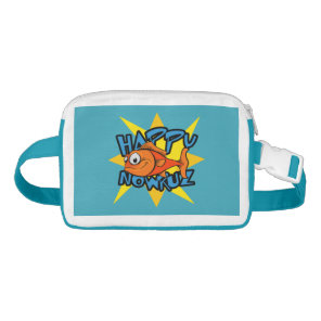 Goldfish Smiling Sun Persian New Year Nowruz Waist Bag