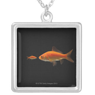 Goldfish Square Pendant Necklace