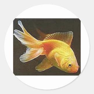 Goldfish Round Stickers