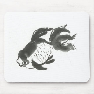 Goldfish Sumi-e [ink painting] Mouse Pad