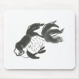 Goldfish Sumi-e ink painting Mousepad