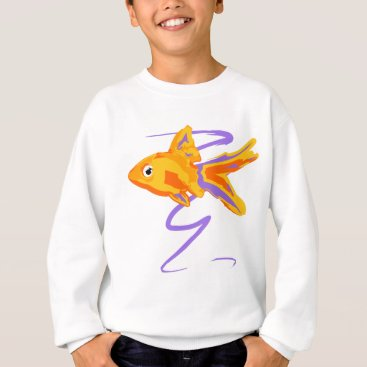 Beach Themed Goldfish Sweatshirt