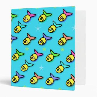 Goldfish swimming 3 ring binder
