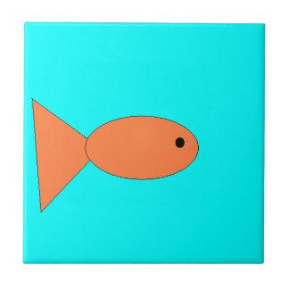 goldfish swimming in the ocean, art by kids :) ceramic tile