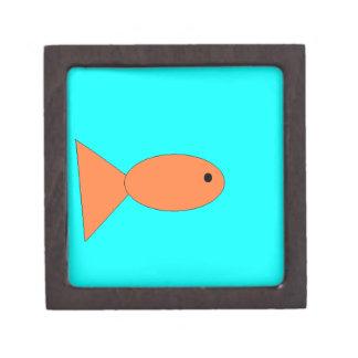 goldfish swimming in the ocean, art by kids :) keepsake box