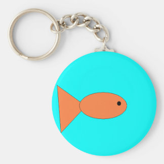 goldfish swimming in the ocean, art by kids :) keychain