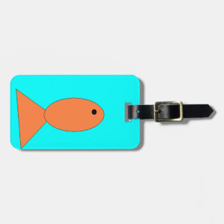 goldfish swimming in the ocean, art by kids :) luggage tag