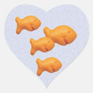 Goldfish Swirls Stickers