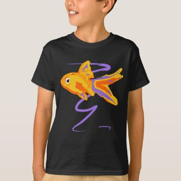 Beach Themed Goldfish T-Shirt