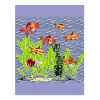 Goldfish Tarjetas Postales