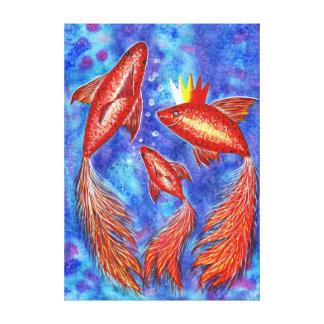 Goldfish the Sea Queen Canvas Print
